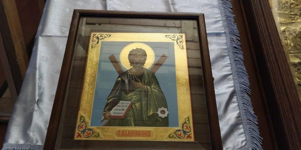 В день памяти апостола Андрея Первозванного в Спасском храме в Вороново пребывала почитаемая икона с частицей мощей